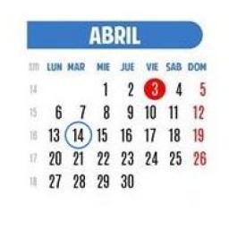 Martes 14 de abril de 2015